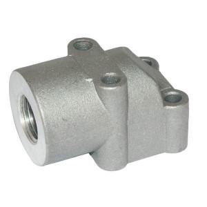OMT Flens haaks 1/2 - 2GB08 | 40 mm | 17 mm | 47,5 mm | 22,22 x 2,62 | 180 bar | 1/2 BSP | Aluminium | M6 x 35/ M6 x55