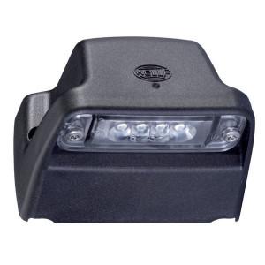 Hella Kentekenlamp LED - 2KA010278421 | Controlenummer: E1 2609 | Opbouw | Afmetingen: 93 x 66 mm | 66,2 mm | M5x35mm | E1 2609/ ECE;ADR/GGVS