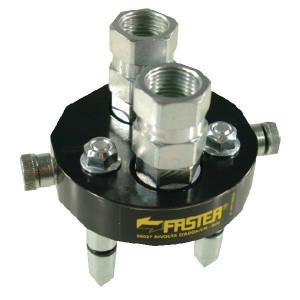 "Faster Multi plug DN10-2x1/2""BSP - 2P206212GMC | 2 Koppelingen DN10 | Polyurethaan \ PFTE | 250 bar | 350 bar | 1/2"" BSP | 3/8"" | 40 l/min"