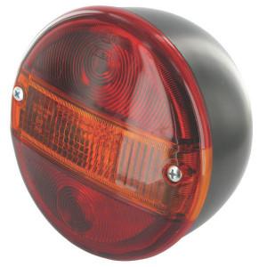 Hella Achterlamp - 2SD001685317 | links / rechts | Voor horizontale opbouw | 12/24 V | 140 mm | rood / oranje | E12 7146 | E12 7146