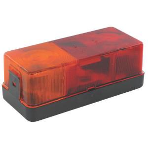 Hella Achterlamp links - 2SD002582011 | Voor horizontale opbouw | 12/24 V | 170 mm | rood / oranje | E1 116 | E1 116
