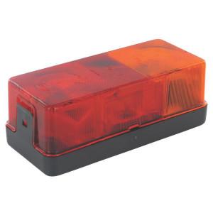 Hella Achterlamp rechts - 2SD002582021 | rechts | Voor horizontale opbouw | 12/24 V | 170 mm | rood / oranje | E1 116 | E1 116