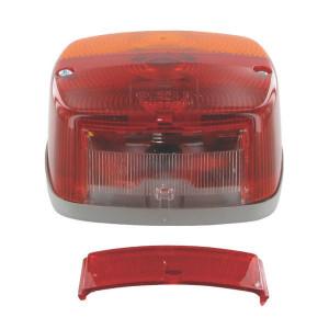 Hella Achterlamp - 2SE002578701   links / rechts   12/24 V   121 mm   121 mm   rood / oranje / wit   E1 43370, E17 9401   E1 43370/ E17 9401
