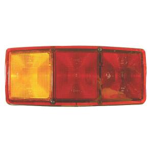 Hella Achterlamp links - 2SE003167031 | Voor horizontale opbouw | 12/24 V | 344 mm | 147 mm | rood / oranje / wit | E1 264 | 344 cm | E1 264