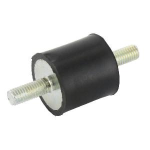 Trillingsdemper TYPE A - 3030A55 | 30 mm | 30 mm | M8 x 20 mm | 55 ° SH | 461 N max | 3.9 mm max