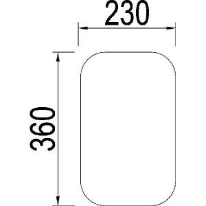 Achterruit onder - 3146043R1N | 3146.043R1 | Helder | 360 mm | 230 mm