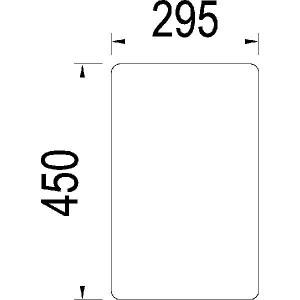 Voorraam onder - 3146526R1N | 3146.526R1 | Helder | 450 mm | 295 mm