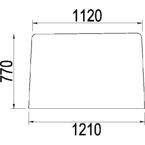 Voorruit - 3217166R1N | 3217.166R1 | Helder | 1210 mm | 770 mm
