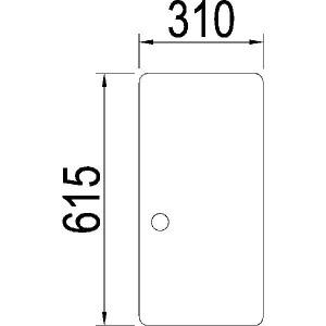 Zijruit schuivend - 3217192R1N | 3217.192R1 | Helder | 615 mm | 310 mm