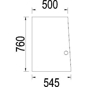 Achterruit schuivend - 3217771R1N | 3217.771R1 | Helder | 760 mm | 545 mm