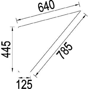 Deurraam onder - 3217785R1N | 3217.785R1 | Helder | 630 mm | 500 mm