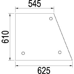 Zijruit - 3402264R1N | 3402.264R1 | Helder | 625 mm | 610 mm