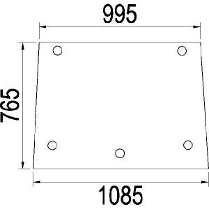 Achterruit boven - 3402290R1N | 3402.290R1 | Helder | 1085 mm | 765 mm
