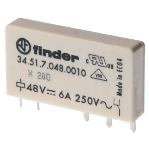 Finder Insteek/printrelais 12V,6A,1W - 345170120010 | 12VDC V | 6 A | 400 V | 1.500 VA | 300 VA | 0,185 kW | 6/0,2/0,12 A | 500(12/10) V/mA | 5/3 ms