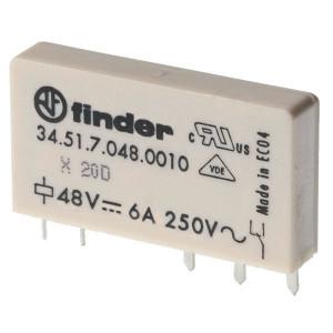 Finder Insteek/printrelais 24V,6A,1W - 345170240010 | 24VDC V | 6 A | 400 V | 1.500 VA | 300 VA | 0,185 kW | 6/0,2/0,12 A | 500(12/10) V/mA | 5/3 ms