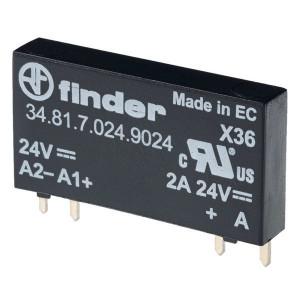 Finder SSR, 12VDC, uitg:2A 24V DC - 348170129024 | 12V DC V | 2 A | RT III | 33V DC V | 0,1 / 0,6 ms