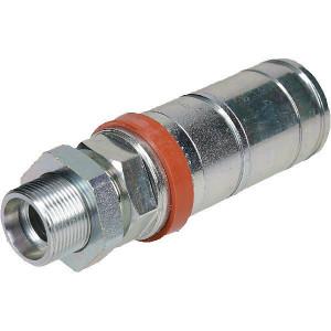 Faster Koppelhuis M26x1,5-18L Schot - 3CFPV72615F | Eenvoudig te bedienen | NBR / PTFE | Wit gepassiveerd | M26 x 1,5 | 68 l/min | 18,2 mm | 145,5 mm | 250 bar | 123,5 mm | Schot 8L