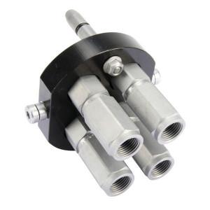 Faster Multistekker DN10-4x1/2 BSP - 3P506412GMGC | 4 Koppelingen DN10 | Polyurethaan \ PFTE | 250 bar | 350 bar | 1/2 BSP | 40 l/min