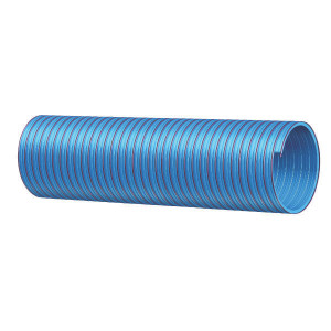 "PVC slang blauw/rood 4"" 30m - 4000830Z | Blauw met rode strepen | PVC spiraal | 102 mm | 4 Inch | 6,5 mm | 320 mm | 0,9 bar | 2.200 g/m | 114,6 mm"