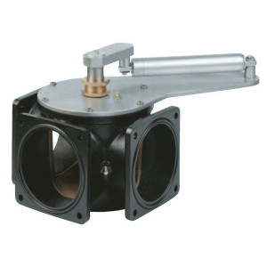"3-wegkraan 4"" + HD-cilinder MZ - 4002002   T-boring   Inclusief o-ringen   332 mm   295 mm   260 mm   125 mm   1/4"" Inch   4"" Inch"