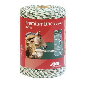 AKO Schrikdraad 250m wit/groen - 441550 | Wit / groen | 95 kg | 0,06 Ohm Ohm/m | 3 x 0,25 mm | 3 x 0,20 mm