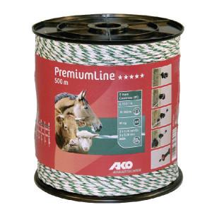 AKO Schrikdraad 500m wit/groen - 441551 | Wit / groen | 95 kg | 0,06 Ohm Ohm/m | 3 x 0,25 mm | 3 x 0,20 mm