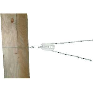 AKO Aanspan hoekisolator wit - 44334 | Versterkt met glasvezel