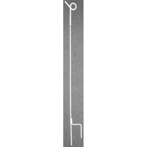 AKO Flex.paal met grote krul, wit - 44456 | 105 cm | 15 cm