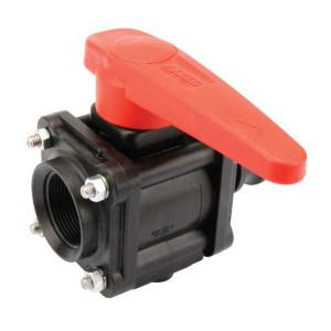 "Arag Kogel - ventiel 2-Weg 1 1/2"" F - 453005D66 | 10 bar | 155 mm | 1 1/2"" F | 1 1/2"" camlock | Polypropylene"