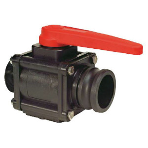 "Arag Kogel - ventiel 2- Weg 1 1/2"" F - 453005H66 | 167 mm | 10 bar | 1 1/2"" M | 1 1/2"" camlock | Polypropylene"