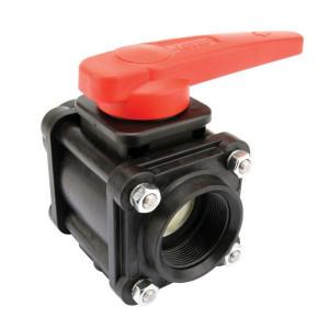 "Arag Kogel - ventiel 2- Weg 2"" F - 453006D77 | 190 mm | 110 mm | 10 bar | 109 mm | 2"" F | 2"" camlock | Polypropylene"