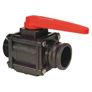 "Arag Kogel - ventiel 2- Weg 2"" M - 453006H77 | 110 mm | 201 mm | 10 bar | 109 mm | 2"" M | 2"" camlock | Polypropylene"