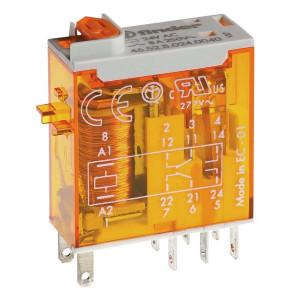 Finder Relais 2W 8A 24V/AC - 465280240054 | 24V AC V | 8 A | 440 V | 2.000 VA | 350 VA | 0,37 kW | 6/0.5/0.15 A | 300 (5/5) V/mA | 10/3 ms