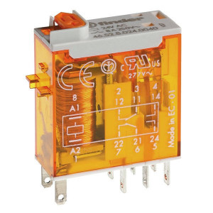 Finder Relais 2W 8A 230V/AC - 465282300054 | 230V AC V | 8 A | 440 V | 2.000 VA | 350 VA | 0,37 kW | 6/0.5/0.15 A | 300 (5/5) V/mA | 10/3 ms