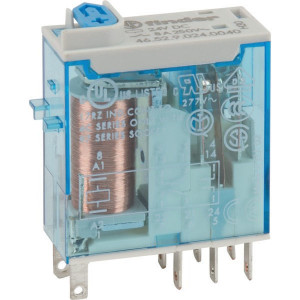 Finder Relais 2W 8A 24V/DC - 465290240040 | 24V DC V | 8 A | 440 V | 2.000 VA | 350 VA | 0,37 kW | 6/0.5/0.15 A | 300 (5/5) V/mA | 10/3 ms