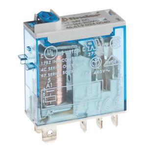 Finder Smal Industrierelais 2W 8A 24VDC - 465290240074 | 24V DC V | 8 A | 440 V | 2.000 VA | 350 VA | 0,37 kW | 6/0.5/0.15 A | 300 (5/5) V/mA | 10/3 ms