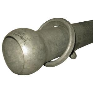 Dompelb + bol uiteinde,3m,D100 - 484438 | 3.000 mm | 100 mm | 1,1 mm