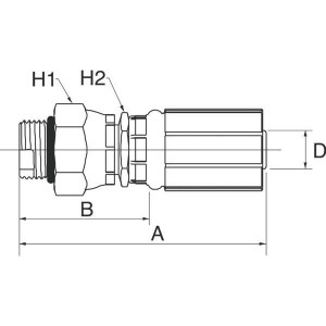 "Gates Pilaar DN6-9/16 SAE - 4G6MBX | 1/4"" Inch | 6 mm | 67,3 mm | 41,2 mm | 22,2 mm | 15,9 mm | 9/16"" 18 UNF | 4G6MBX"