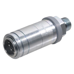"Faster Koppelhuis 1/2""-M22X1,5 - 4SRPV08122FH | Push-Pullkoppeling | Landbouwvoertuigen | NBR / PTFE | Wit gepassiveerd | M22x1,5 | 1/2"" | 70 l/min | 129,3 mm | 250 bar | 107,3 mm"