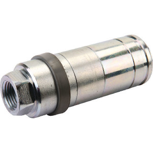"Faster Snelkoppeling binnendr. 1/2NPT - 4SRPV0812NFH | Eenvoudig te bedienen | NBR / PTFE | Wit gepassiveerd | 1/2"" UNF | 68 l/min | 250 bar | 109 mm"