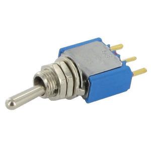 APEM Schakelaar mini on-on 1-pol. - 5236CDB   1-Pole: on-on   Voertuigelectronica   13.2 mm   6.35 mm   Messing