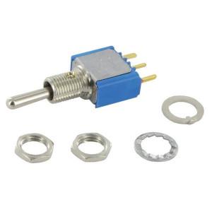 APEM Schakelaar mini on-off-mom 1-pol. - 5238CDB   1-Pole: on-off-mom   Voertuigelectronica   13.2 mm   6.35 mm   ON-OFF-MOM   Messing