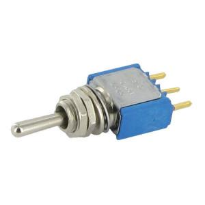 APEM Schakelaar mini on-off-on 1-pol. - 5239CDB   1-Pole: on-off-on   Voertuigelectronica   13.2 mm   6.35 mm   ON-OFF-ON   Messing