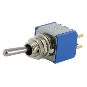APEM Schakelaar mini on-on 2-pol.print - 5246CDB   2-Pole: on-on   Voertuigelectronica   12.00 mm   13.2 mm   6.35 mm   Messing