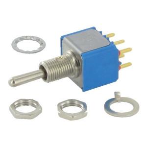 APEM Schakelaar mini mom-off-mom 2-pol. - 5247CDB   2-Pole: mom-off-mom   Voertuigelectronica   12.00 mm   13.2 mm   6.35 mm   MOM-OFF-MOM   Messing