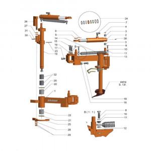 Braun Afdich.set cilinder 35x20x400 - 5273520