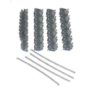 Flexco Riemverbinder set RS187J12/300NC - 54588 | 300 mm | 4,8 6,4 mm | 400 N/mm² N/mm² | 100 mm | 300 mm | Gegalvaniseerd staal | 300 mm | 5,2 mm | Staal met nylon mantel