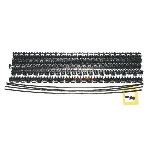 Flexco Riemverbinder set RS187J24/600NC - 54592 | 600 mm | 4,8 6,4 mm | 400 N/mm² N/mm² | 100 mm | 600 mm | Gegalvaniseerd staal | 600 mm | 5,2 mm | Staal met nylon mantel