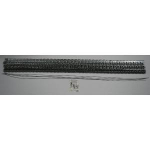 Flexco Riemverbinder set RS62J40/1000NC - 54646 | 1000 mm | 1,5 3,2 mm | 200 N/mm² N/mm² | 1.000 mm | 1.000 mm | Staal met nylon mantel