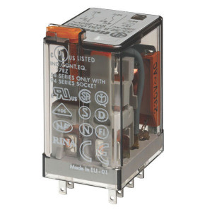 Finder Relais 2-P 230V/AC - 553282300050 | 230V AC V | 10 A | 400 V | 2.500 VA | 500 VA | 0,37 kW | 10/0,25/0,12 A | 300 (5/5) V/mA | 9/3 ms